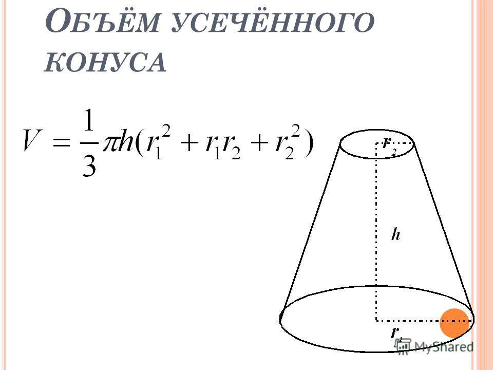 О БЪЁМ УСЕЧЁННОГО КОНУСА