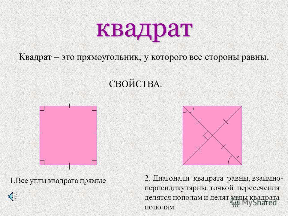 РОМБ Ромб – это параллелограмм, у которого все стороны равны. A B C D О Свойство: диагонали ромба взаимно-перпендикуляр ны и делят его углы пополам.