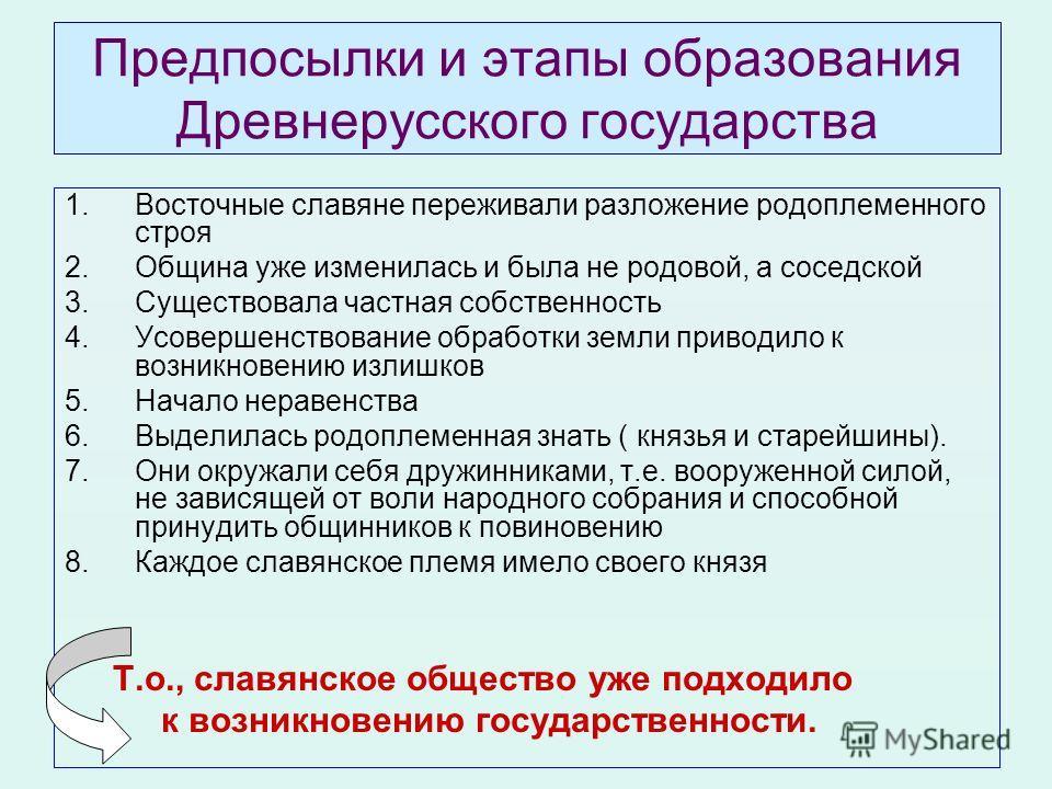 Восточные славяне переживали