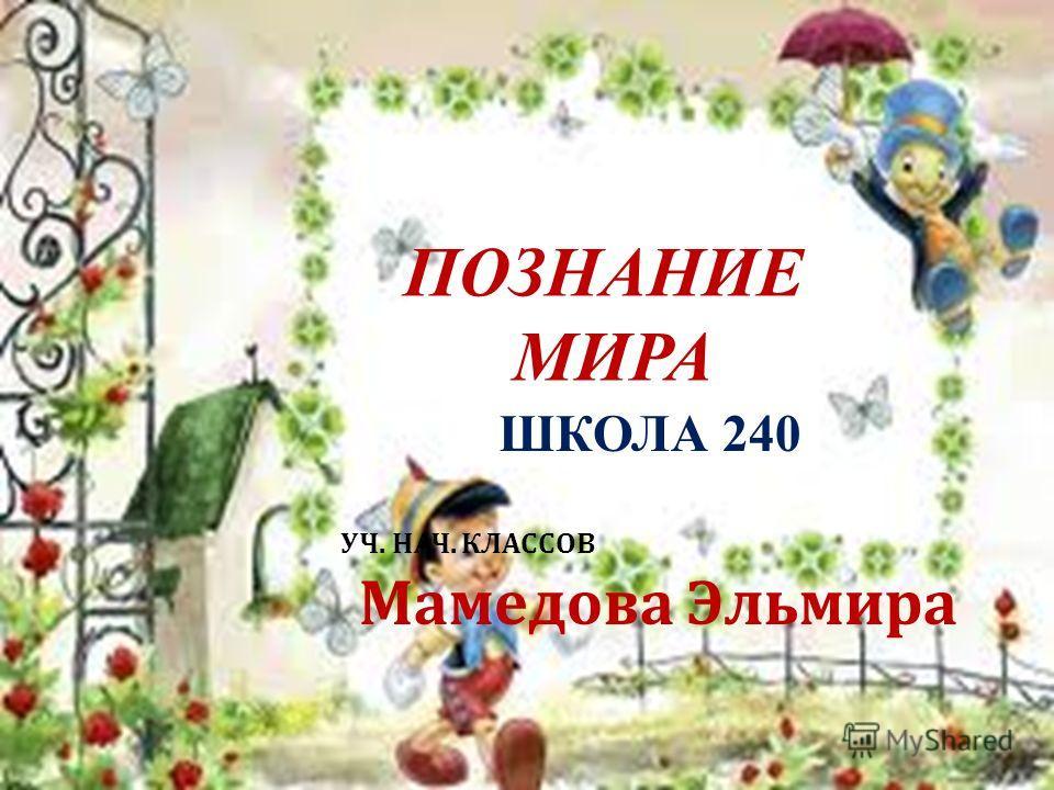 ПОЗНАНИЕ МИРА ШКОЛА 240 УЧ. НАЧ. КЛАССОВ Мамедова Эльмира