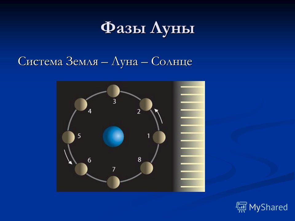 Фазы Луны Система Земля – Луна – Солнце