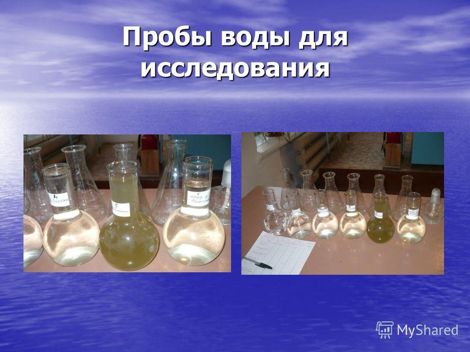 Пробы воды для исследования
