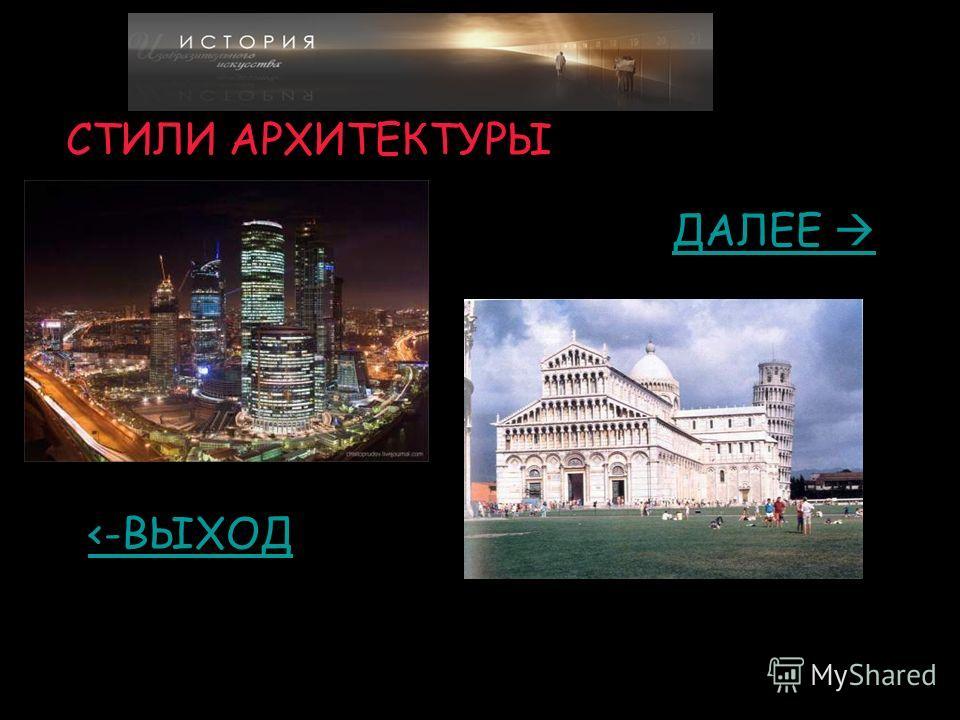 Стили архитектуры презентация