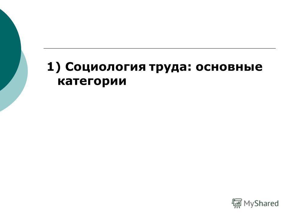 План 1) Социология труда: основные категории; 2) Мотивация труда; 3) Повышение эффективности труда: проблемы, методы.