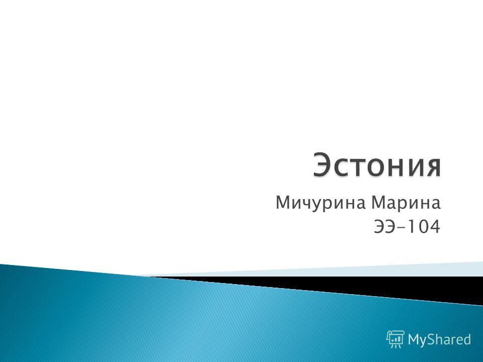 Мичурина Марина ЭЭ-104