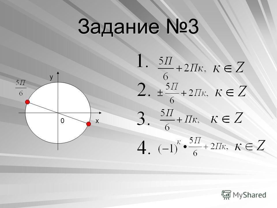 Задание 3 y x0