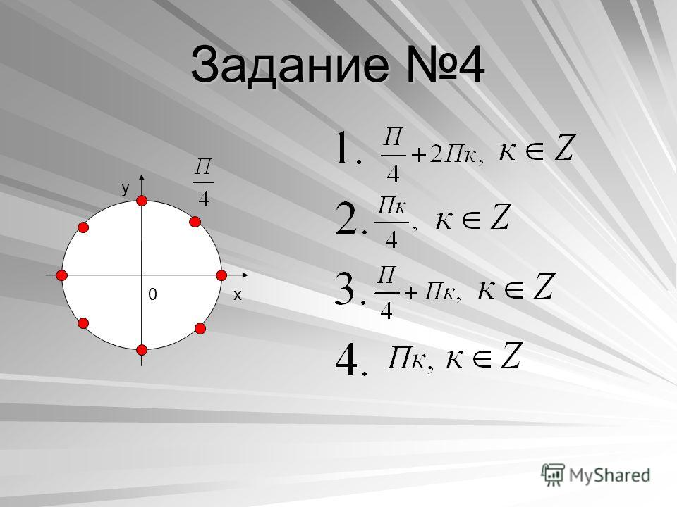 Задание 4 y x0