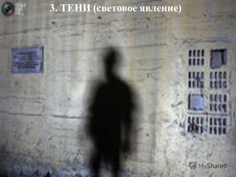 3. ТЕНИ (световое явление)