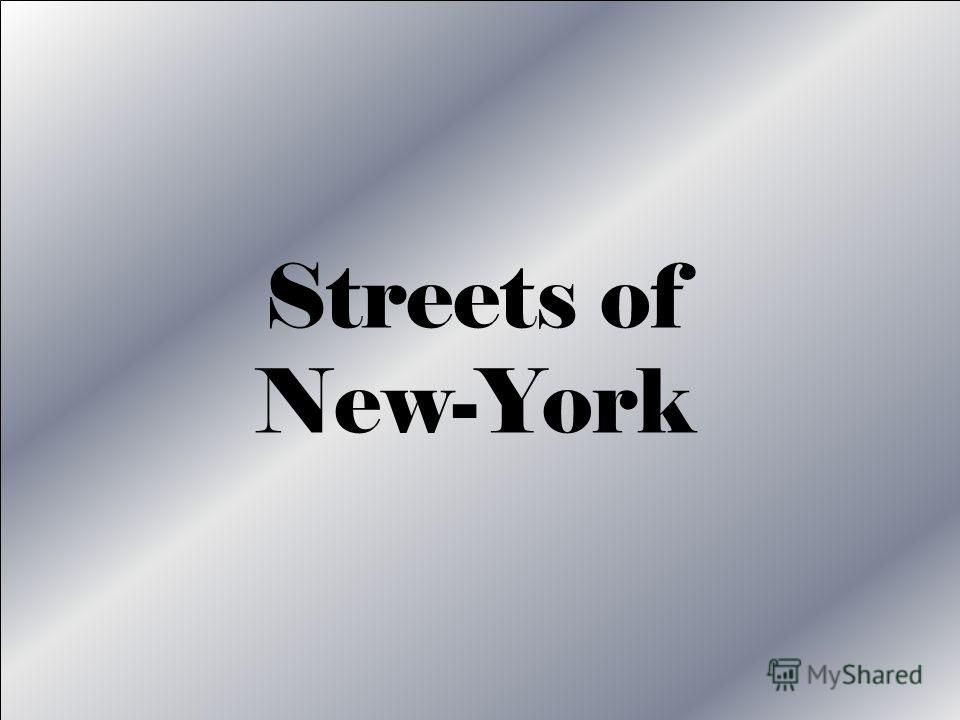 Streets of New-York