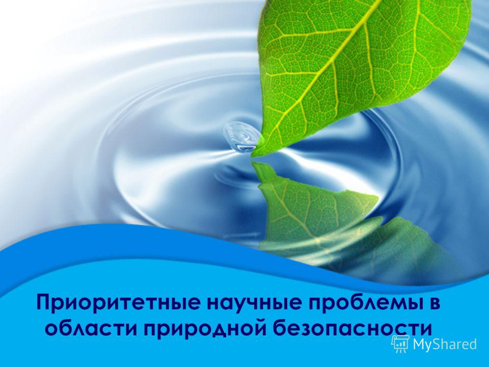 Приоритетные научные проблемы в области природной безопасности