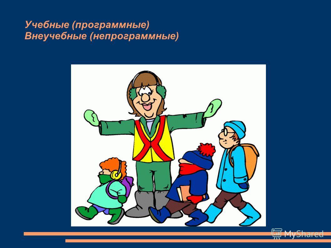 Учебные (программные) Внеучебные (непрограммные)