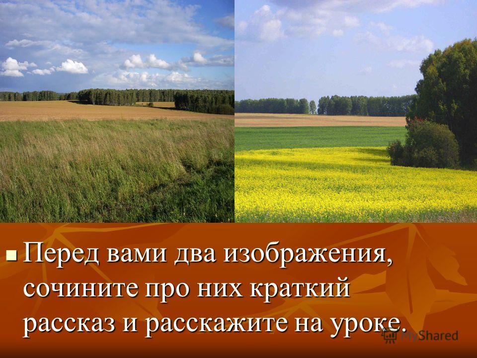 Перед вами два изображения, сочините про них краткий рассказ и расскажите на уроке. Перед вами два изображения, сочините про них краткий рассказ и расскажите на уроке.