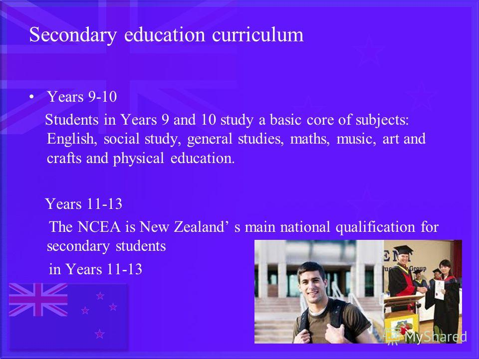 Secondary Education the subject of the study