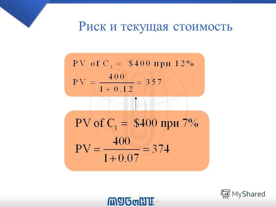 Риск и текущая стоимость