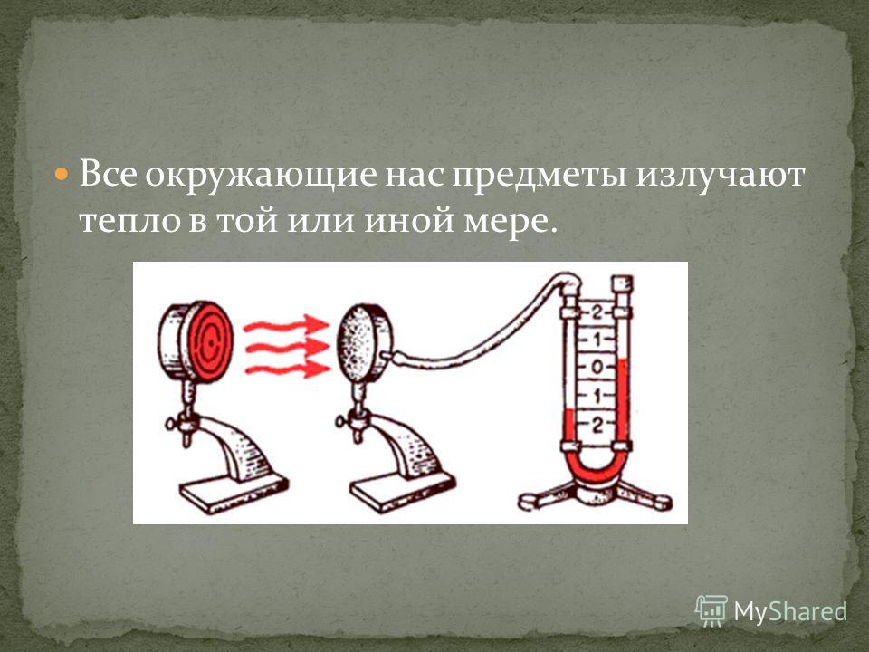 Все окружающие нас предметы излучают тепло в той или иной мере.
