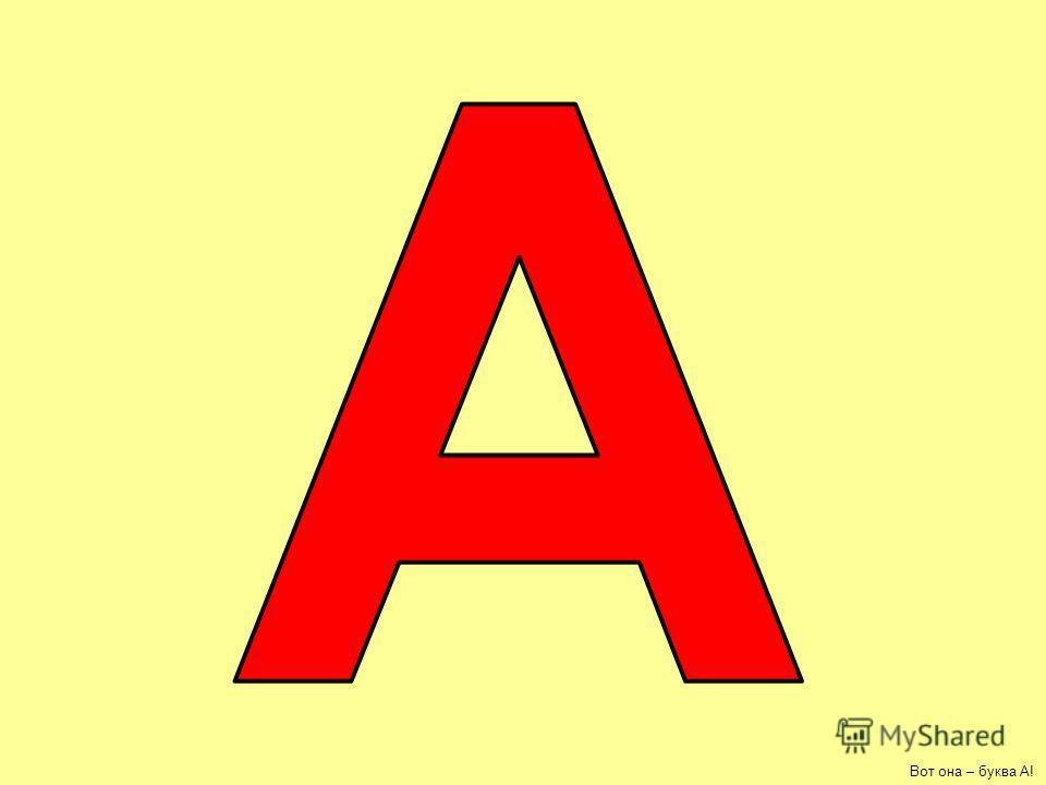 Вот она – буква А!