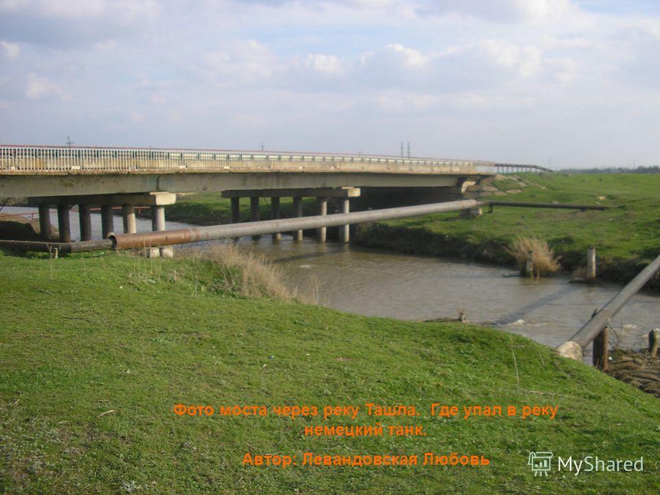 Фото моста через реку Ташла. Где упал в реку немецкий танк. Автор: Левандовская Любовь
