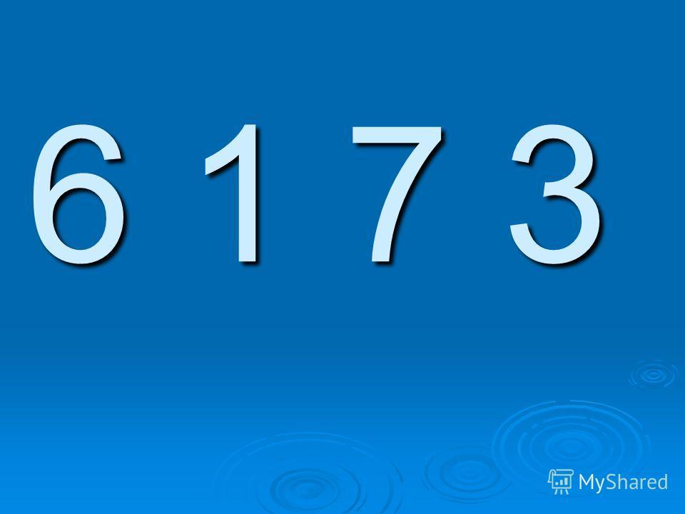 6 1 7 3