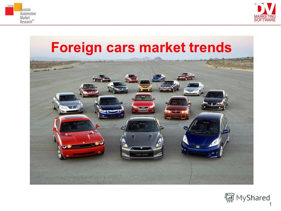 1 Foreign cars market trends