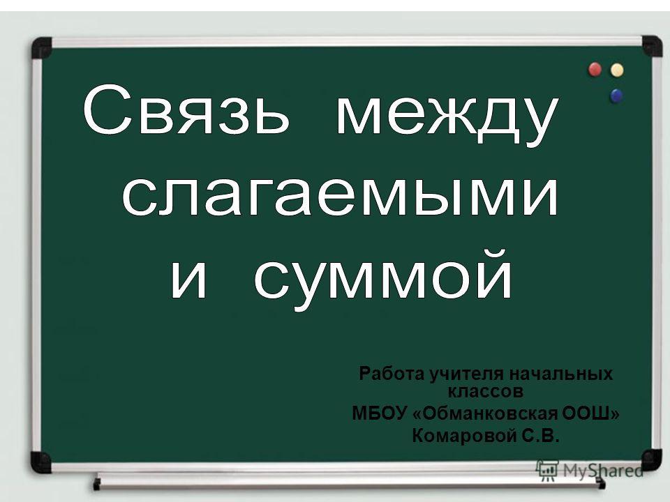 Слагаемое сумма 1 класс презентация школа россии
