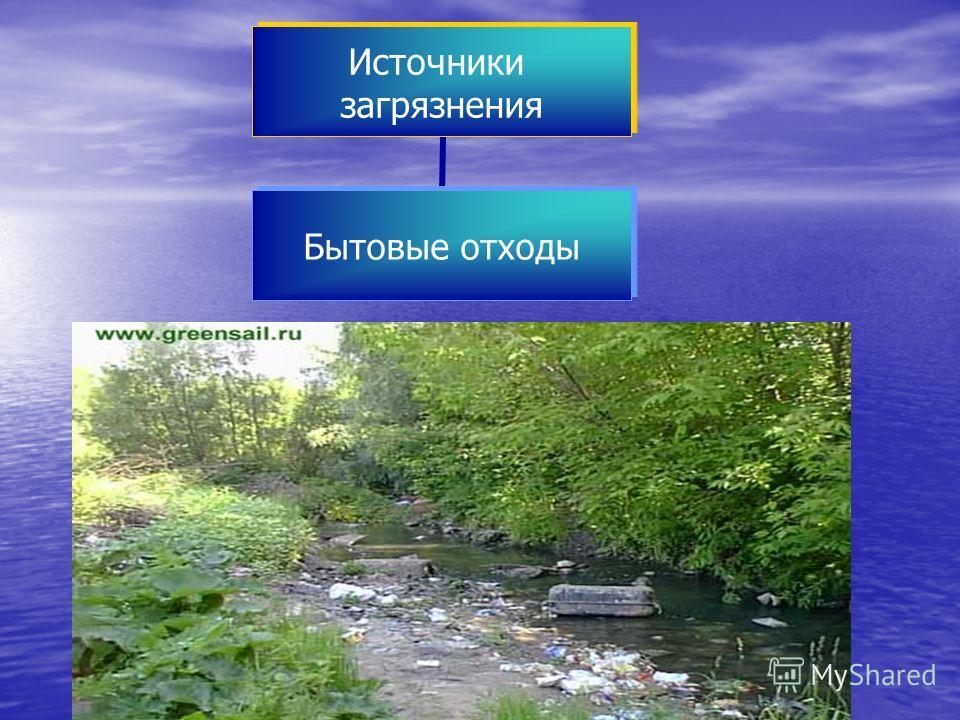 Источники загрязнения Бытовые отходы
