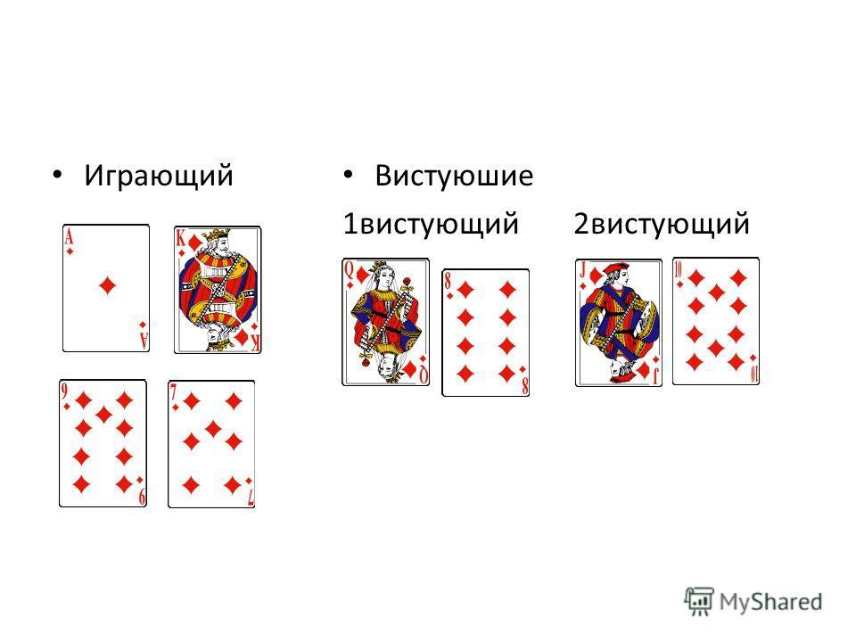 Играющий [ Вистуюшие 1вистующий 2вистующий [Д;В;10;8] 0
