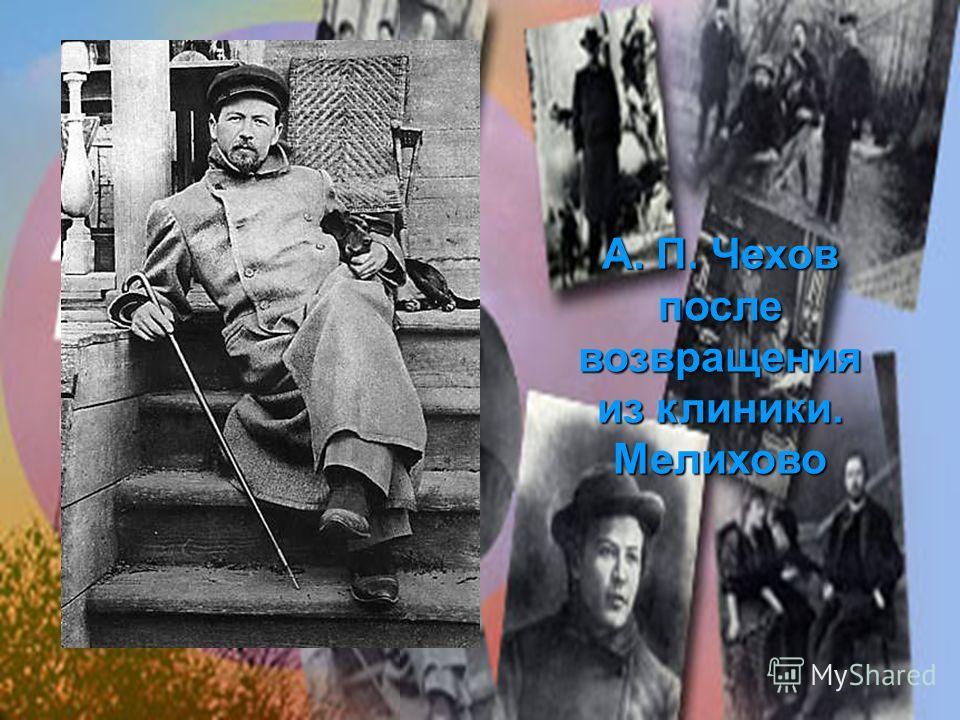 А. П. Чехов после возвращения из клиники. Мелихово