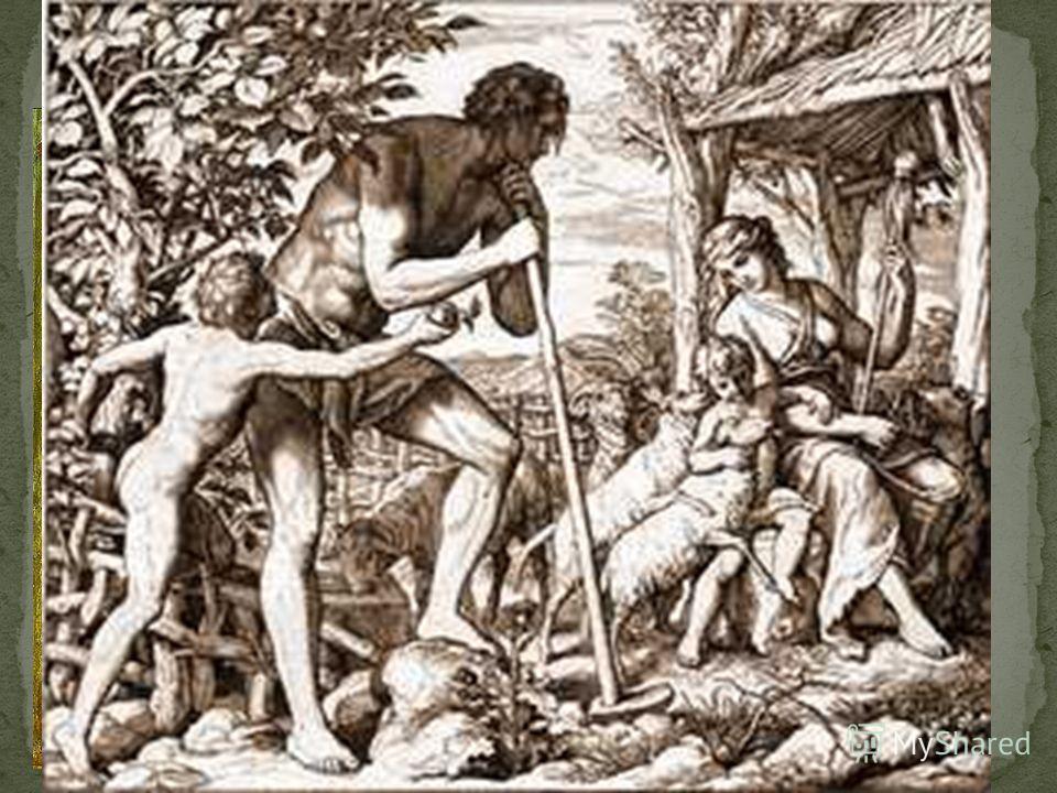 Фреска Мазаччо в капелле Бранкаччи, 1426-27 Адаму же сказал: за то, что ты послушал голоса жены твоей и ел от дерева, о котором Я заповедал тебе. сказав: не ешь от него, проклята земля за тебя; со скорбью будешь питаться от неё во все дни жизни твоей