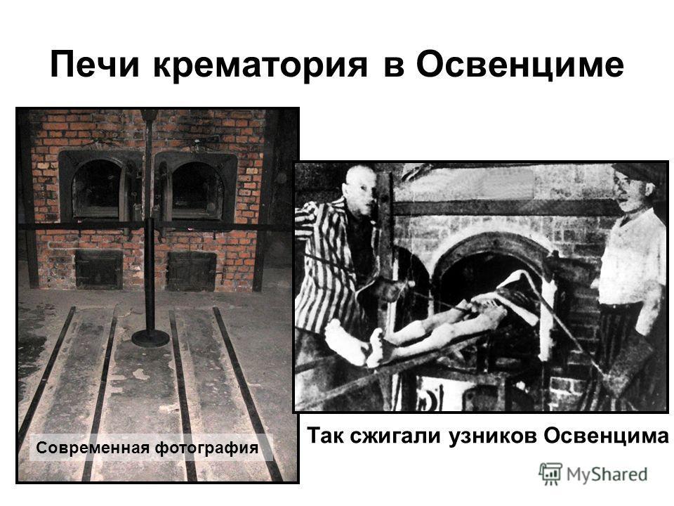Печи крематория в Освенциме Современная фотография Так сжигали узников Освенцима