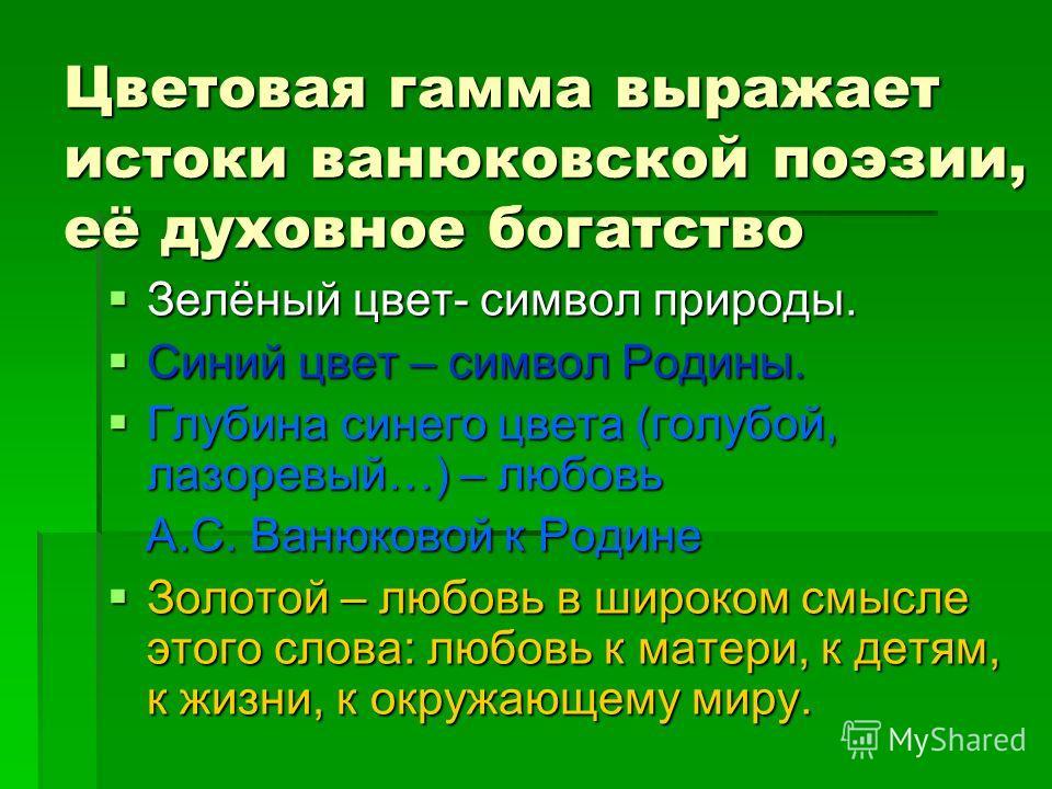 Поэтический герб А.С. Ванюковой Шестигранник символизирует личность А.С. Ванюковой, многогранную, богатую, талантливую. Солнце- символ жизни. Книга- символ знаний. Свеча- символ нравственной чистоты и духовности. Зелёные побеги- символ весны, тепла,
