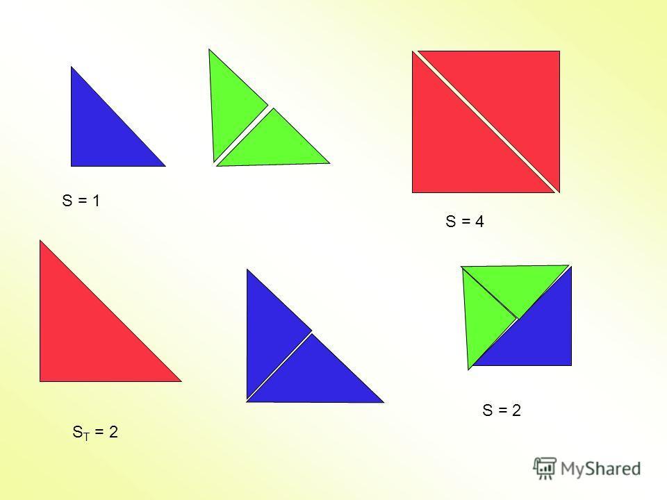S = 1 S T = 2 S = 4 S = 2