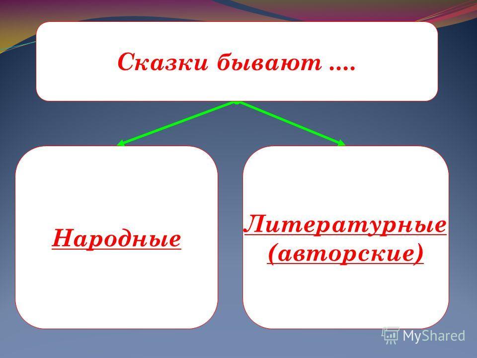 Народные Литературные (авторские) Сказки бывают....