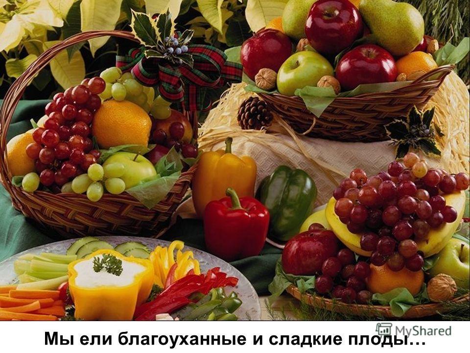 Мы ели благоуханные и сладкие плоды…