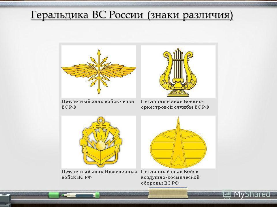Геральдика ВС России (знаки различия)