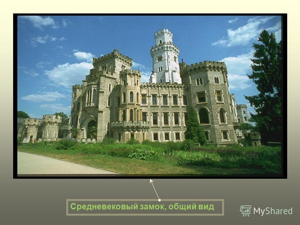 Средневековый замок, общий вид