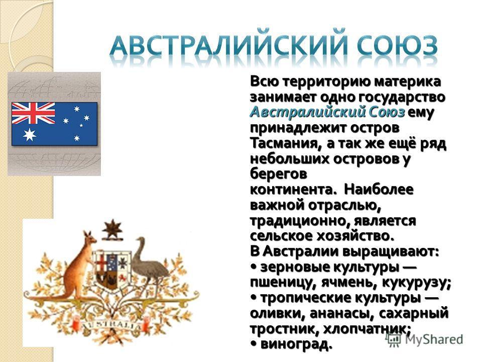 Австралия занимает территорию