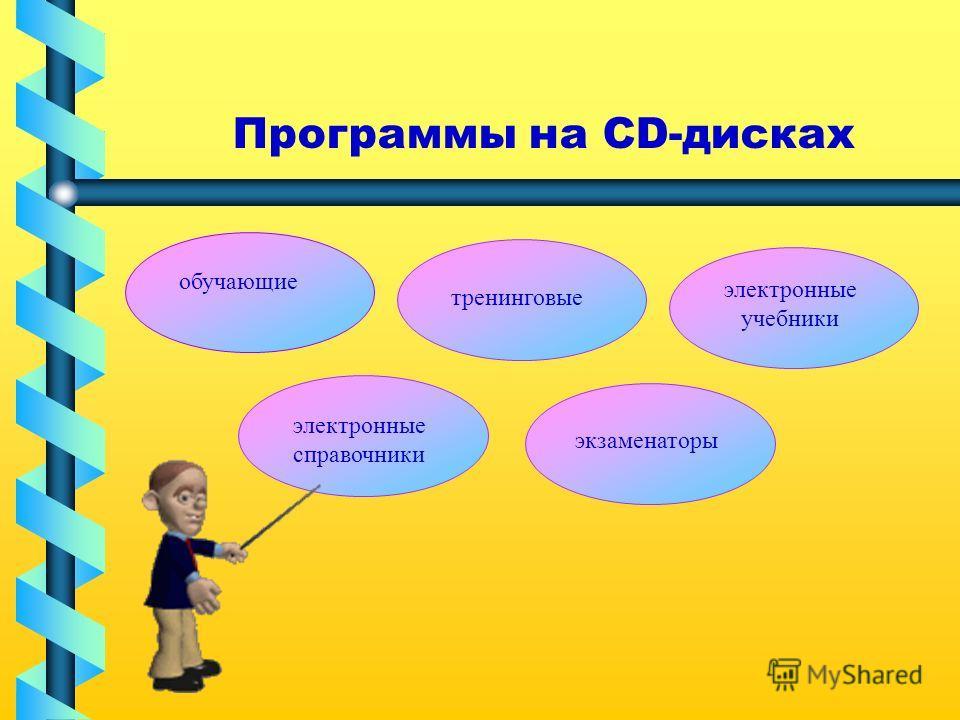 Программы на CD-дисках обучающие тренинговые электронные учебники электронные справочники экзаменаторы