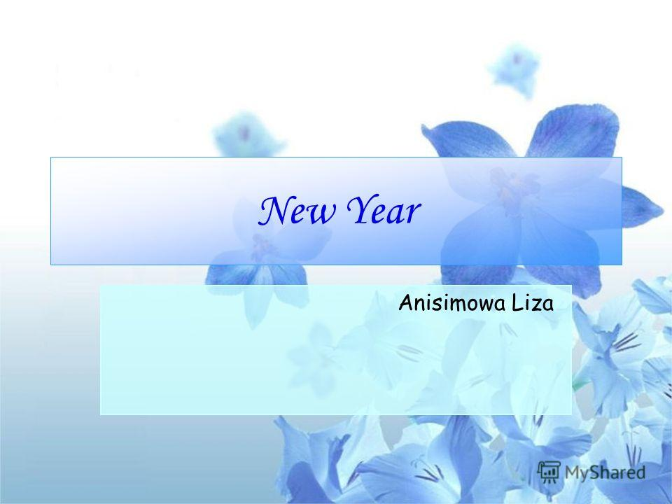 New Year Anisimowa Liza
