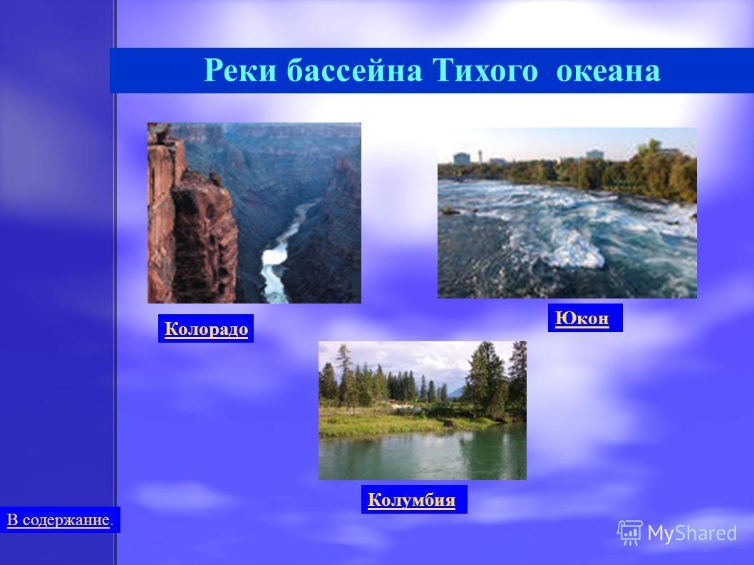 Реки бассейна Тихого океана Юкон Колорадо Колумбия В содержаниеВ содержание.