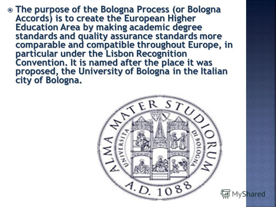 bologna declaration1 Found its way into the educational policy in eu from 2000 by the lisbon  declaration  today lifelong learning strategies are important aspects of the  bologna.