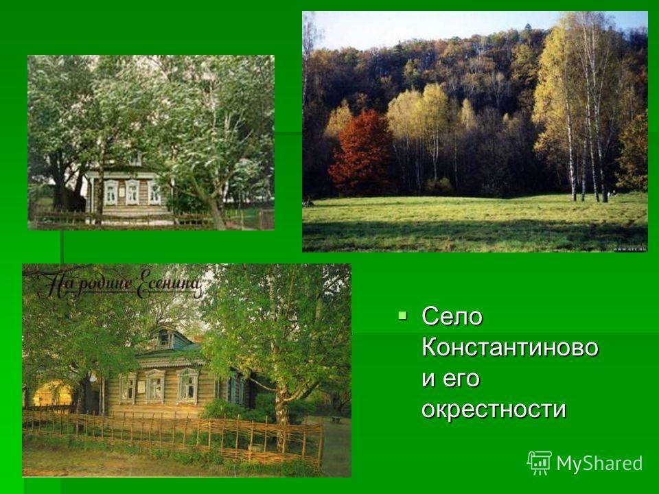 Село Константиново и его окрестности Село Константиново и его окрестности