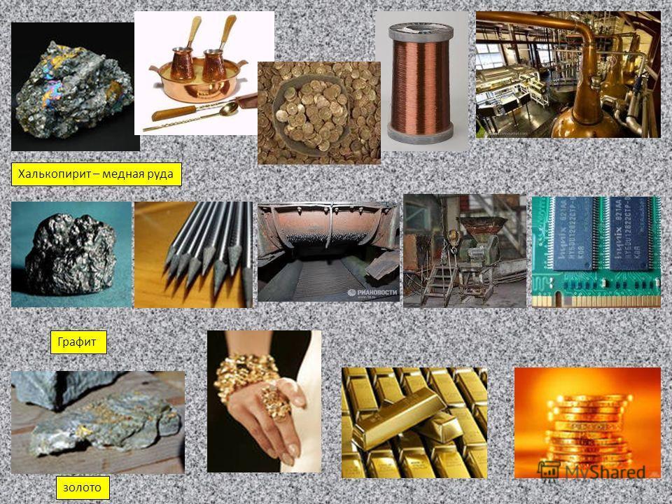 Графит Халькопирит – медная руда золото