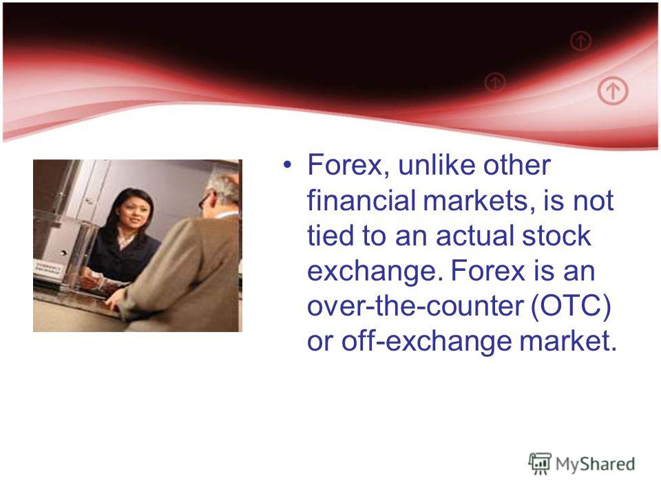 Over the counter forex market