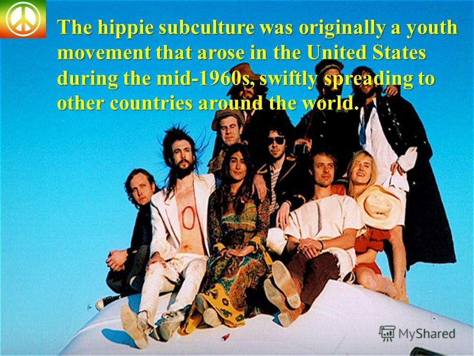 the hippie movement that arose from The hippie (or hippy) subculture was originally a youth movement that arose in the united states during the mid-1960s and spread to other countries around the world.