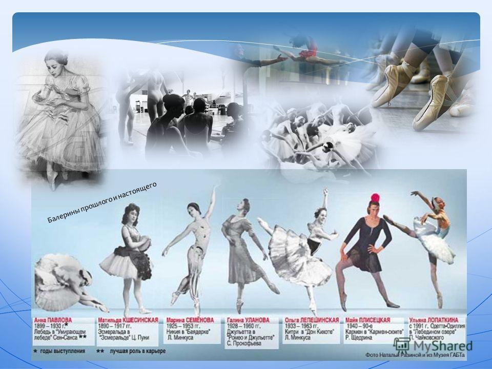 Балерины прошлого и настоящего