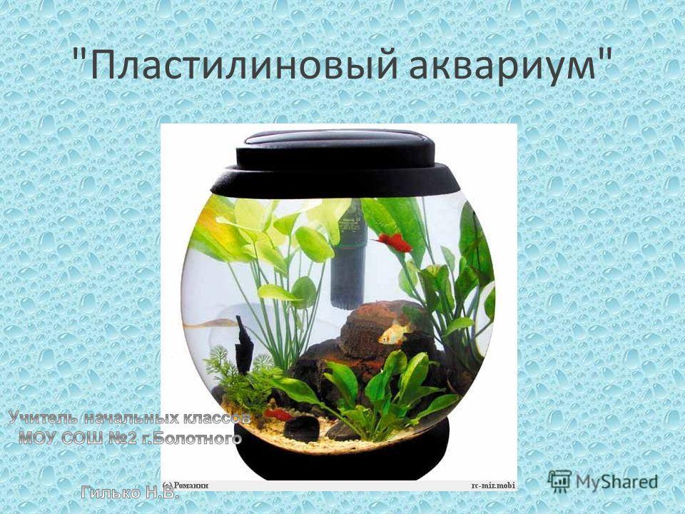 Пластилиновый аквариум