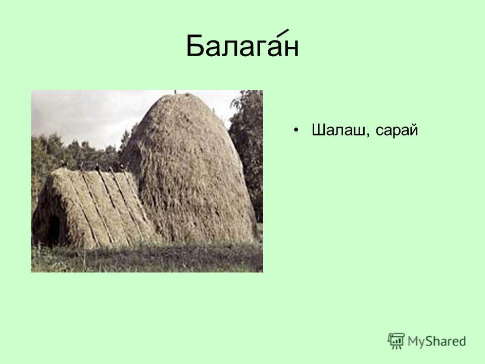 Балаган Шалаш, сарай