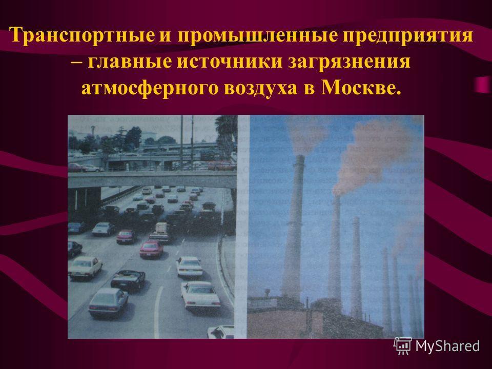 Транспортные и промышленные предприятия – главные источники загрязнения атмосферного воздуха в Москве.