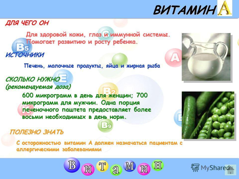 ВИТАМИНЫ (Нажмите на любой витамин)