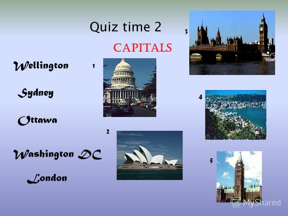 1)BUCKINGHAM PALACE 2)DISNEYLAND 3)THE GREAT BARRIER REEF 4) HOLLYWOOD 5)THE RIVER THAMES 6)ARIZONA 7)SOUTH ISLAND 8)PICCADILLY CIRCUS 9)THE WHITE HOUSE 10)THE NIAGARA FALLS In which country is…? Quiz time 1 a)The USA b) The UK c) New Zealand d) Aust